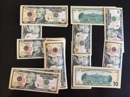 50 Bills Prop Money Replica 10 All Full Print For Movie Video Films Etc. - $19.99