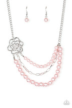 Fabulously Floral  Pink - Necklace Set - $5.00