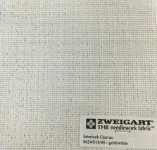 Interlock Needlepoint Canvas 18 Count Gold & White Custom Cuts Available - $8.08+