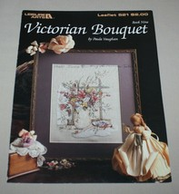 Victorian Bouquet Leisure Arts 521 Cross Stitch Pattern Book 9 Paula Vau... - $7.43