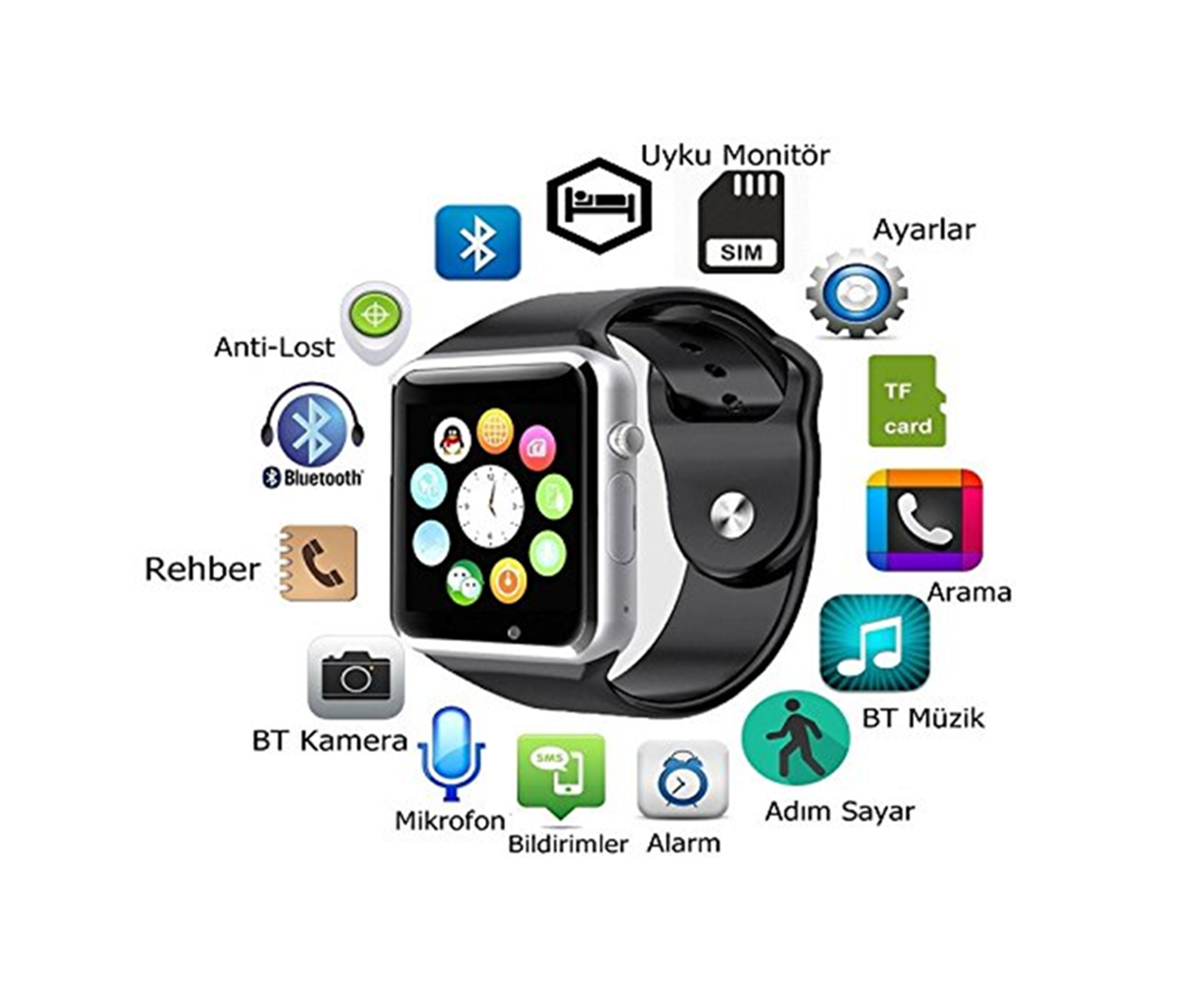 Primary image for Waterproof Bluetooth Smart Watch Phone for Android IOS Samsung HTC iPhone