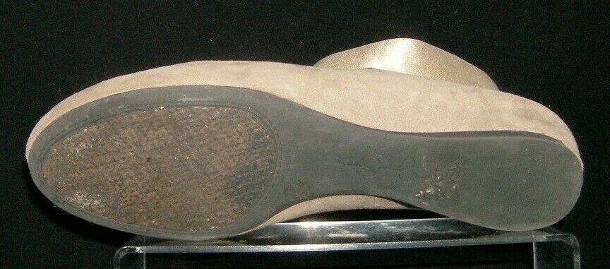 Jessica Simpson Mandayss taupe man made elastic cross strap ballet flats 8.5B