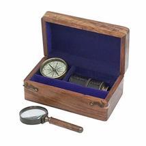 Schooner Bay Co. Antique Old World Maritime Navigation Set with Travel T... - $78.39