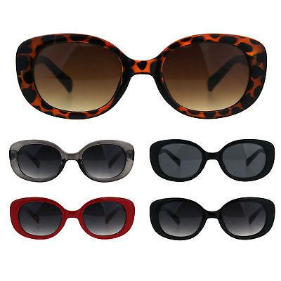 Womens Rectangular Mod Designer Plastic Fashion Sunglasses