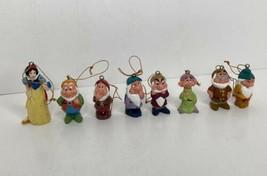 Lot of 8 Disney Christmas Ornaments Snow White & the 7 Dwarfs Vinyls? *READ - $19.79