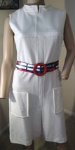 VTG Deadstock 60's Nautical PinUp GO-GO Mod Scooter Twiggy SPACE AGE Dre... - $261.24