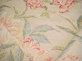 2 PCS BRAEMORE BEAUTIFUL PINK / RED / MINT FLORAL DRAPERY UPHOLSTERY FABRIC - $24.31