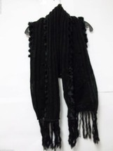 Jessica Simpson Size S Small Black Shrug Scarf Sweater Wrap Shall Bolero... - $32.66