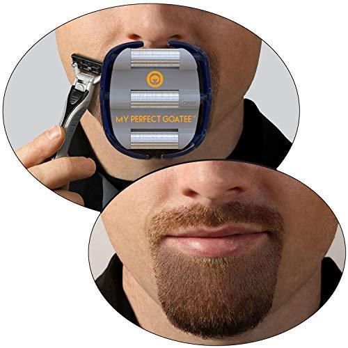 Mens Goatee Shaving Template | Create a Perfectly Shaped Goatee Every Time | Adj