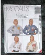 McCall's Pattern 8064 Creative Clothing Misses' Shirt Size 8-10 - $2.00