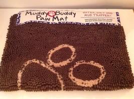 Muddy Buddy Microfiber Pet Dog Paw Print Mat Doormat Absorbent 21 x 30 T... - $51.30
