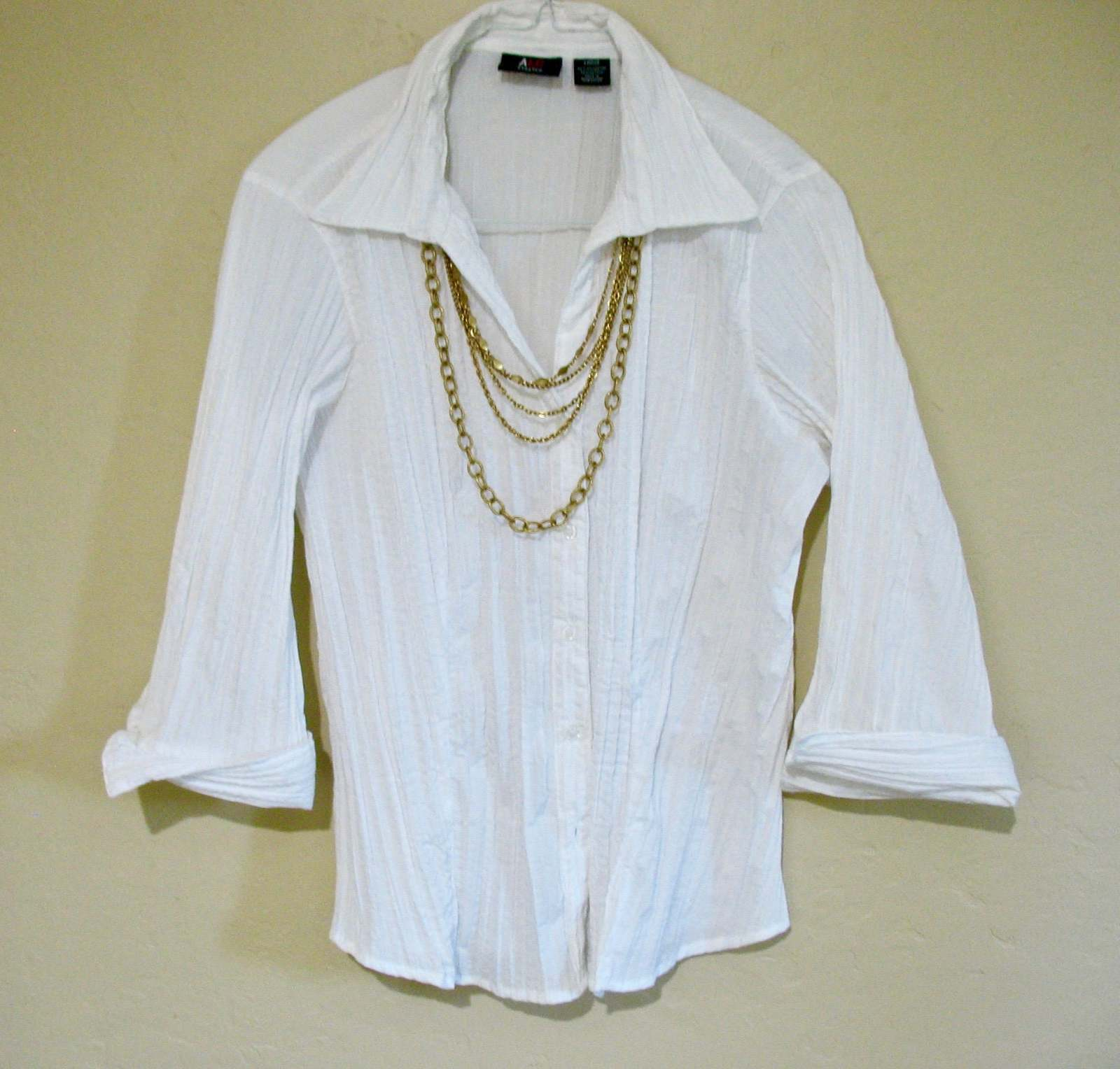 Multiple Chain Necklace, Multi Chains, Five Strands, 1970's, Gold Tone, Box Clas