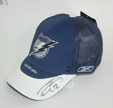 Reebok NHL CCM Tampa Bay Lightning Hat Mesh Flex Fit Signed 12 Ryan Malone NWT - $32.62