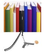 Semi Auto Pistol Pewter Emblem Pattern bookmark for books organisers codeA - $12.75