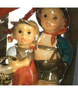 "Hummel Christmas Ornament Surprise 935505 2009 2.75"" Brother Sister Girl... - $27.99"