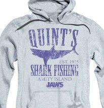 Jaws Movie Retro 70s Quints Shark Fishing Amity Island distressed hoodie UNI413 image 2