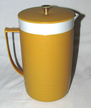 Vintage Sunfrost Therm-O-Ware Insulated Pitcher, Mustard Yellow 1960s Gr... - $11.99