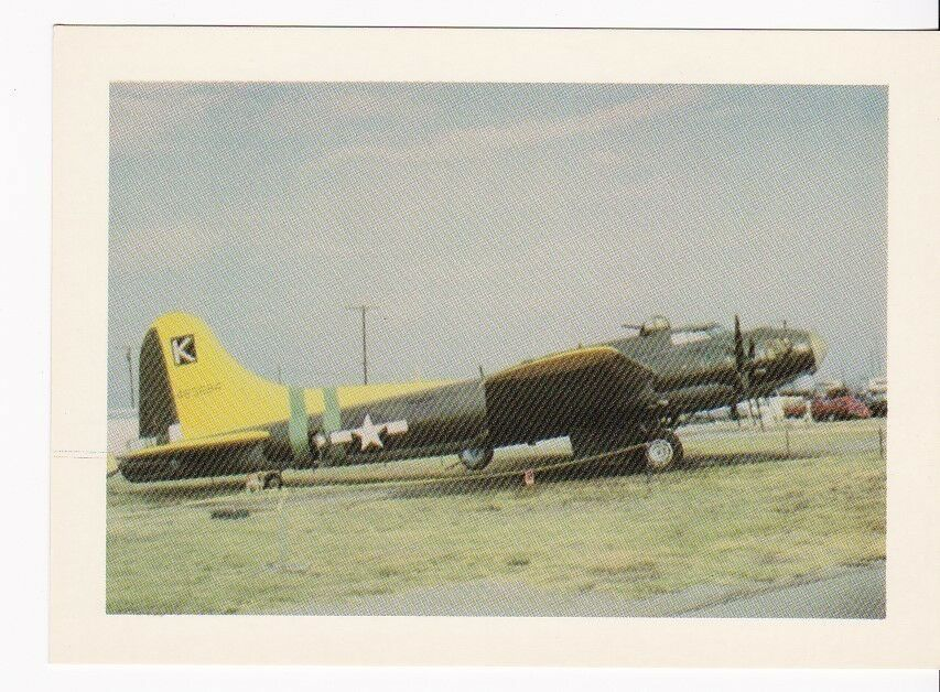 BOEING B-170 FLYING FORTRESS VINTAGE UNUSED POSTCARD PLANES OF FAME AIR MUSEUM