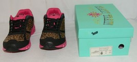Crazy Train RUNWILD14 Black Pink Cheetah Sneakers Size 11 image 1