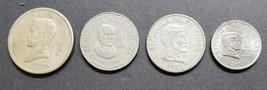 4 Philippine 1 Piso Coins Jose Rizal / Bangko Sentral Ng Pilipinas  - $8.95