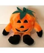 "Halloween Pumpkin Plush Stuffed Animal 10.5"" Orange Decoration Holiday D... - $9.99"