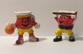 Lot of 2 Kool Aid Man PVC Figures Basketball Player and Weight Lifter - $9.04