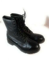 Timberland Black Leather Combat Boots Shoes  Men's Size 12 W Police CO O... - $108.89