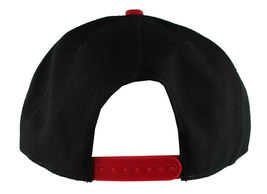 Dissizit! Side Bear Black Red Brim Snapback Cap Hat California Star Flag image 4