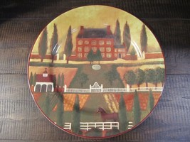 """Block Country Village 12"""" Round Serving Platter Dish Home Decor dated 19... - $26.32"""