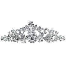 Nobel Alloy Dazzle Sliver Crown Headband Wedding Hair Comb