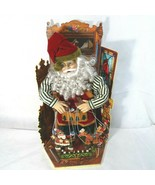 Wind Up Santa Puppeteer Animated Musical We Wish You a Merry Christmas - $49.49