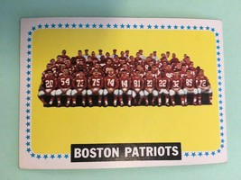 1964 Topps Boston Patriots Team Card #21 Football Card EX Condition - $12.99