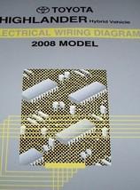 2008 Toyota HIGHLANDER HYBRID ELECTRIC WIRING Troubleshooting Manual - $26.78