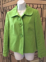 Talbots Women's Dress Jacket Size 6 Green Button Front (M16) - $12.86