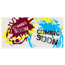 Paint Splash Coming Soon Business Window Display Retail Large Format Sign - $19.31+
