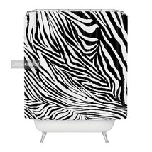 Sweetenlife Nordic style Black Zebra Pattern Shower Curtain Home Curtains For Ba - $37.79