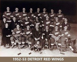 1952-53 DETROIT RED WINGS TEAM 8X10 PHOTO HOCKEY - $3.95