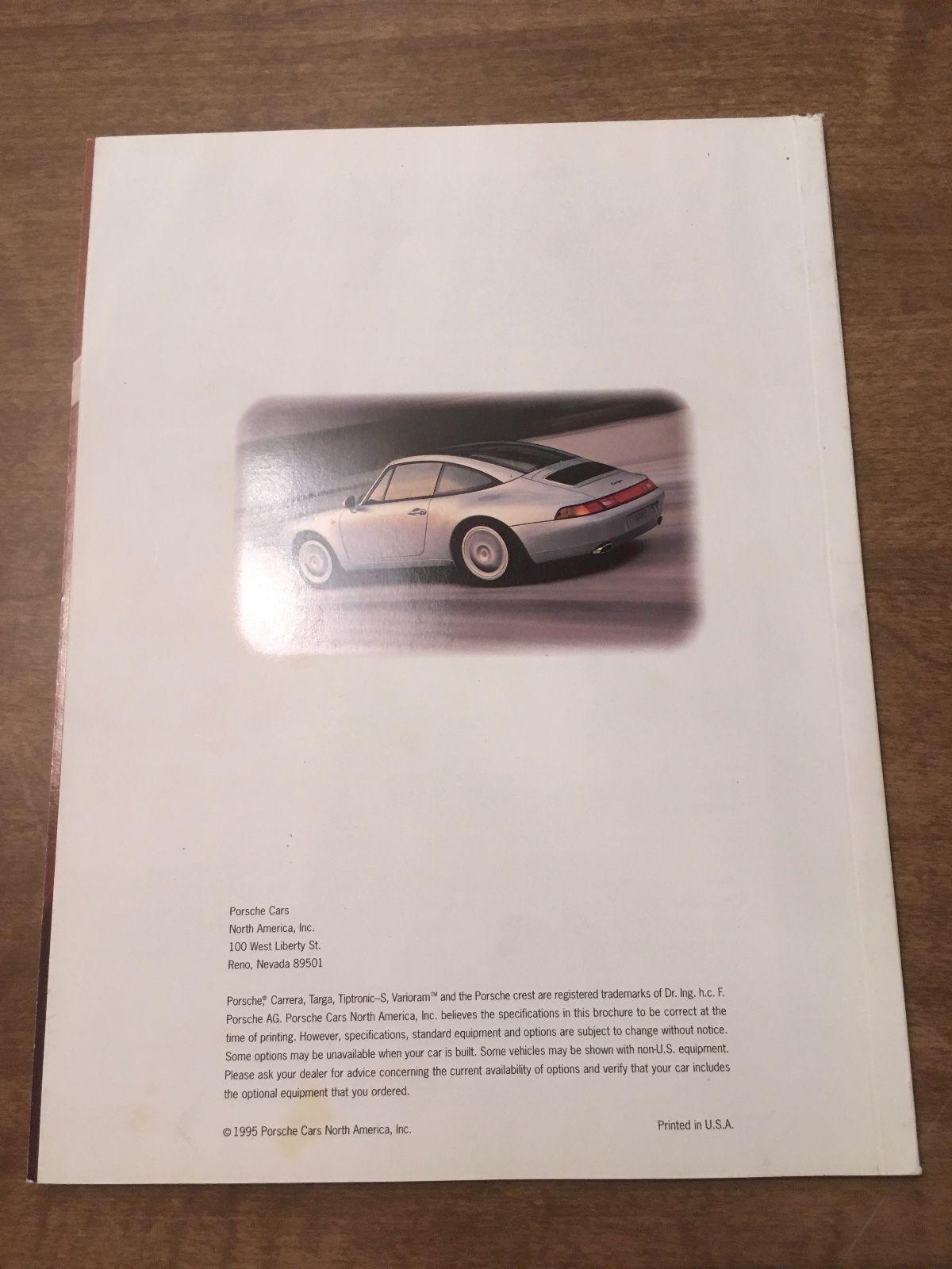 1995 Porsche 911 Carrera /& 911 Turbo Showroom Advertising Brochure