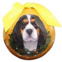 E&S Pets Christmas Ball Ornament - Cavalier Tri - $12.64