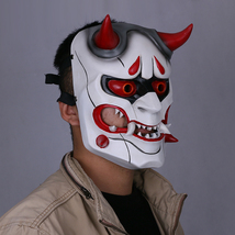 Game Overwatch OW Genji Skin Oni Mask Prop Custom Made Cosplay - $69.70 CAD+