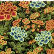 Masami Nightshade Gold Multi Floral Metallic 100% cotton fabric by the yard - $6.65