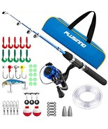 PLUSINNO Kids Fishing Pole with Travel Bag, Telescopic Fishing Rod and Reel Comb - €40,70 EUR