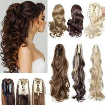 Real Thick Claw Ponytail Hair Piece Clip in Hair Extensions As Human Hair image 1