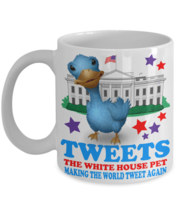 Donald Trump Tweets The White House Pet Blue Bird Coffee Mug Gift - £11.66 GBP+