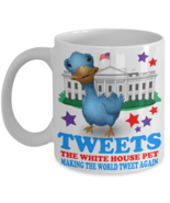 Donald Trump Tweets The White House Pet Blue Bird Coffee Mug Gift - $14.84+