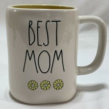 RAE DUNN Best Mom White Mug Daisies Collection By Magenta Mother's Day Gift - £17.25 GBP