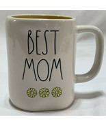 RAE DUNN Best Mom White Mug Daisies Collection By Magenta Mother's Day Gift - £17.27 GBP