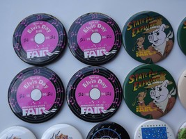 Large Lot of Minnesota State Fair Pinback Buttons Various Years image 2