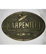 Vintage Carpenter Solid Brass Belt Buckle 1978 Baron Buckle rare - $23.36