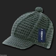 Charcoal Gray Knit Crochet B EAN Ie Reggae Rasta Kufi Winter Visor B EAN Ie Hat Cap - $27.07